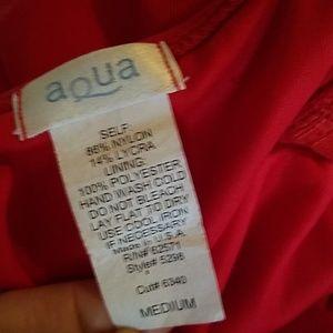 Aqua Tops - NWT Cherry red ruched mesh cami top